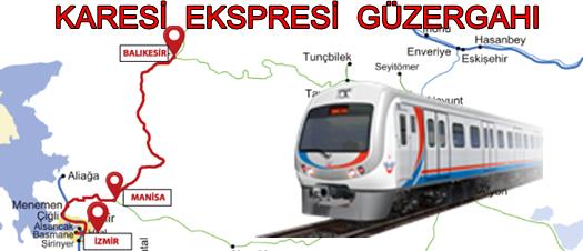 Karesi Ekspresi Tren Güzergahı